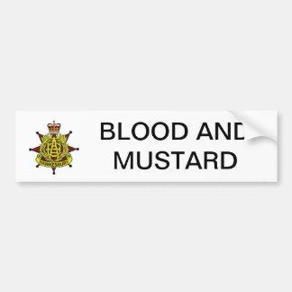 Blood and Mustard Bumper Sticker