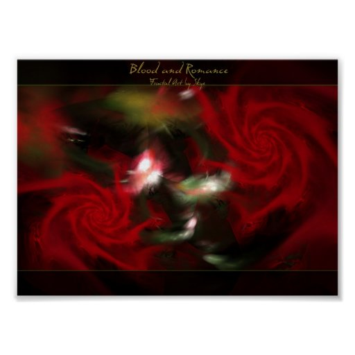 Blood and Romance fractal poster