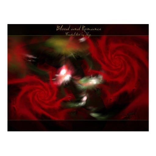 Blood and Romance Postcard
