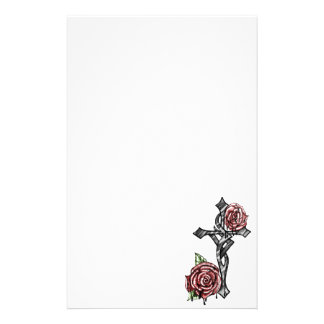 Blood and Roses Cross Stationery