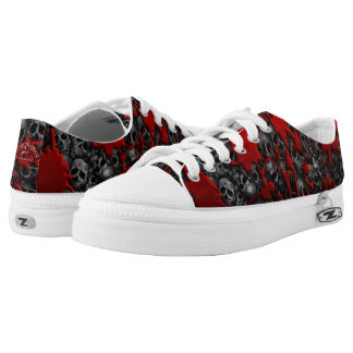 Blood and skulls series #1 printed shoes