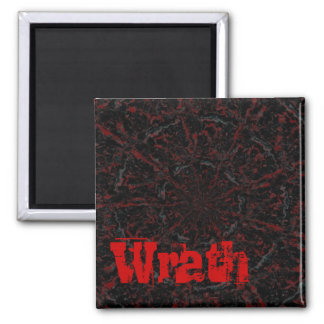 Blood and Wrath 2 Inch Square Magnet