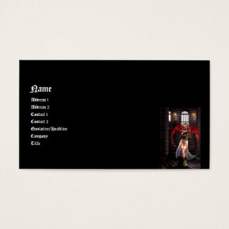 Blood Angel 3D Gothic Pin-up Business Card