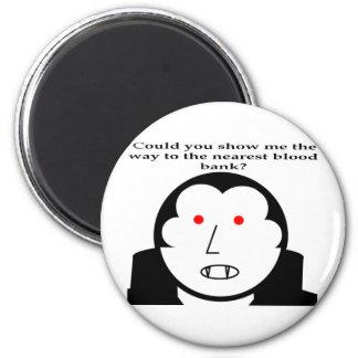 Blood Bank 2 Inch Round Magnet