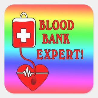 BLOOD BANK EXPERT SQUARE STICKER
