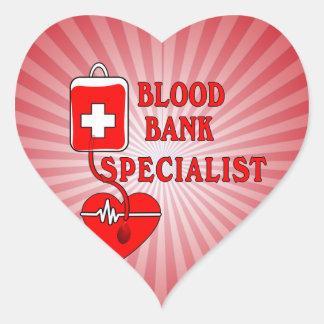 BLOOD BANK SPECIALIST HEART STICKER