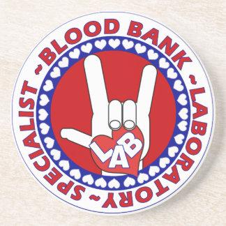 BLOOD BANK SPECIALIST LABORATORY TECH LOVE DRINK COASTER