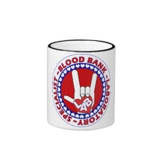 BLOOD BANK SPECIALIST LABORATORY TECH LOVE RINGER COFFEE MUG