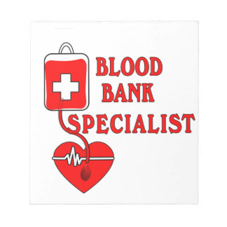 BLOOD BANK SPECIALIST MEMO PADS