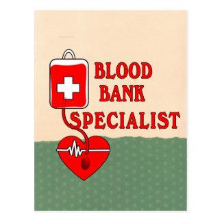 BLOOD BANK SPECIALIST POSTCARD