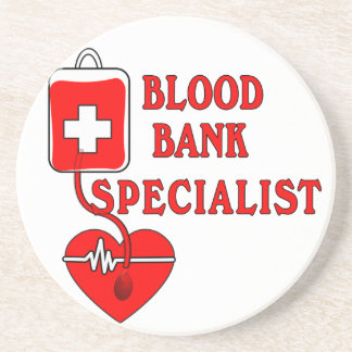 BLOOD BANK SPECIALIST SANDSTONE COASTER