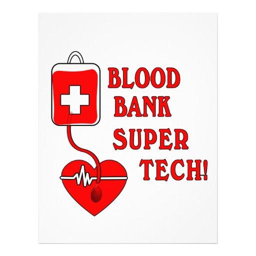 blood bank super tech letterhead zazzle