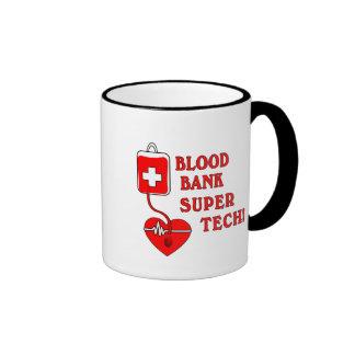 BLOOD BANK SUPER TECH RINGER COFFEE MUG