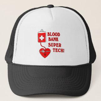 BLOOD BANK SUPER TECH TRUCKER HAT