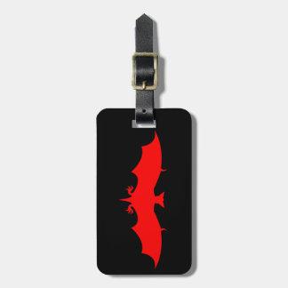 Blood Bat Luggage Tag