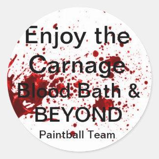 Blood Bath & BEYOND Paintball Team stickers
