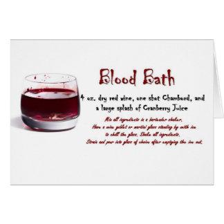 Blood Bath drink recipe Greeting Card