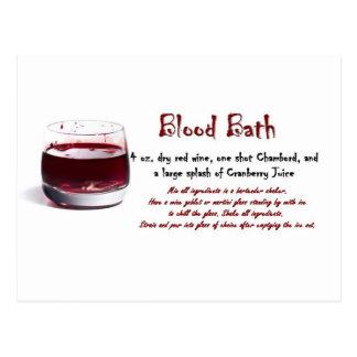 Blood Bath drink recipe Postcard