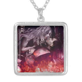Blood Bonding Silver Plated Necklace