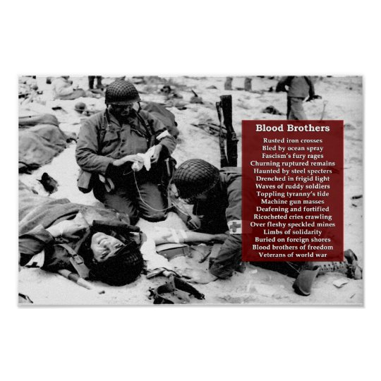 Persistence Motivational Quotes: Blood Brothers Military Tribute Poster