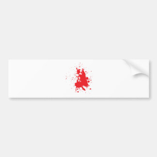blood bumper sticker