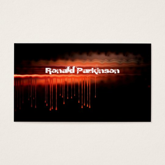 blood business card