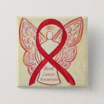 Blood Cancer Angel Awareness Ribbon Pins