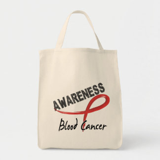 Blood Cancer Awareness 3 Grocery Tote Bag
