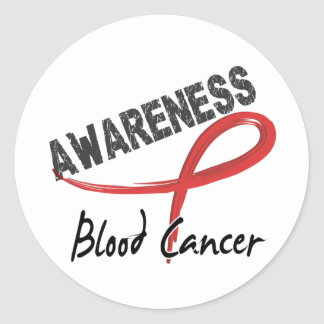 Blood Cancer Awareness 3 Round Stickers