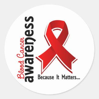 Blood Cancer Awareness 5 Classic Round Sticker