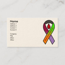 Blood Cancer Awareness Business Cards