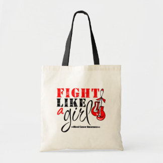 Blood Cancer Awareness Fight Like a Girl Budget Tote Bag