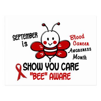 Blood Cancer Awareness Month Bee 1.1 Postcard