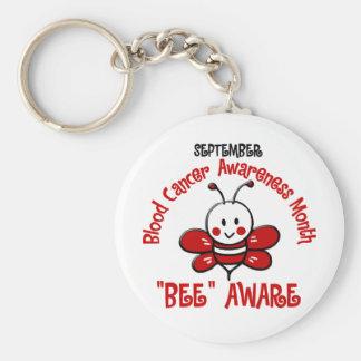 Blood Cancer Awareness Month Bee 1.2 Basic Round Button Keychain