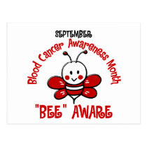 Blood Cancer Awareness Month Bee 1.2 Postcard