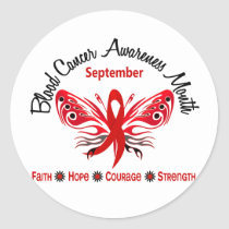 Blood Cancer Awareness Month Butterfly 3.2 Classic Round Sticker