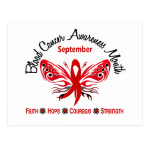 Blood Cancer Awareness Month Butterfly 3.2 Postcard