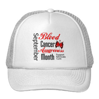 Blood Cancer Awareness Month Butterfly Grunge Mesh Hat