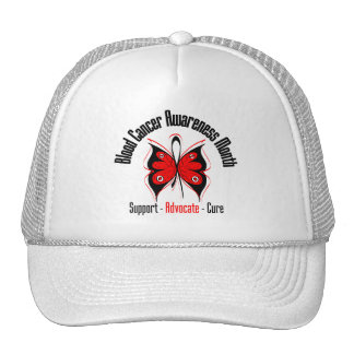 Blood Cancer Awareness Month Butterfly Ribbon Hats