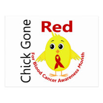 Blood Cancer Awareness Month Chick 1 Postcard