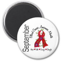 Blood Cancer Awareness Month Flower Ribbon 1 Magnet