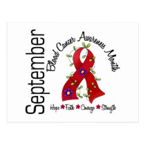 Blood Cancer Awareness Month Flower Ribbon 1 Postcard