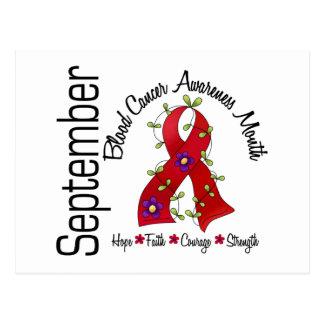 Blood Cancer Awareness Month Flower Ribbon 1 Postcard