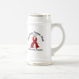Blood Cancer Awareness Month Flower Ribbon 2 18 Oz Beer Stein