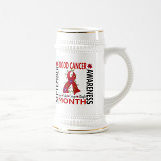 Blood Cancer Awareness Month Flower Ribbon 4 18 Oz Beer Stein