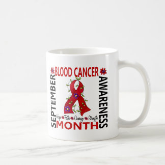 Blood Cancer Awareness Month Flower Ribbon 4 Classic White Coffee Mug