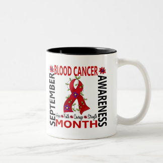 Blood Cancer Awareness Month Flower Ribbon 4 Two-Tone Coffee Mug
