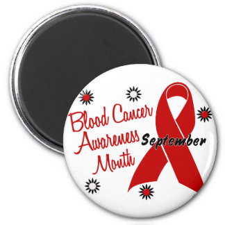 Blood Cancer Awareness Month Flowers 1 2 Inch Round Magnet