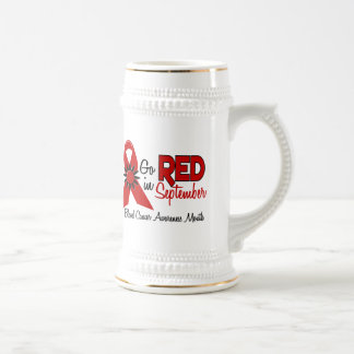 Blood Cancer Awareness Month Flowers 2 18 Oz Beer Stein