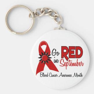 Blood Cancer Awareness Month Flowers 2 Basic Round Button Keychain